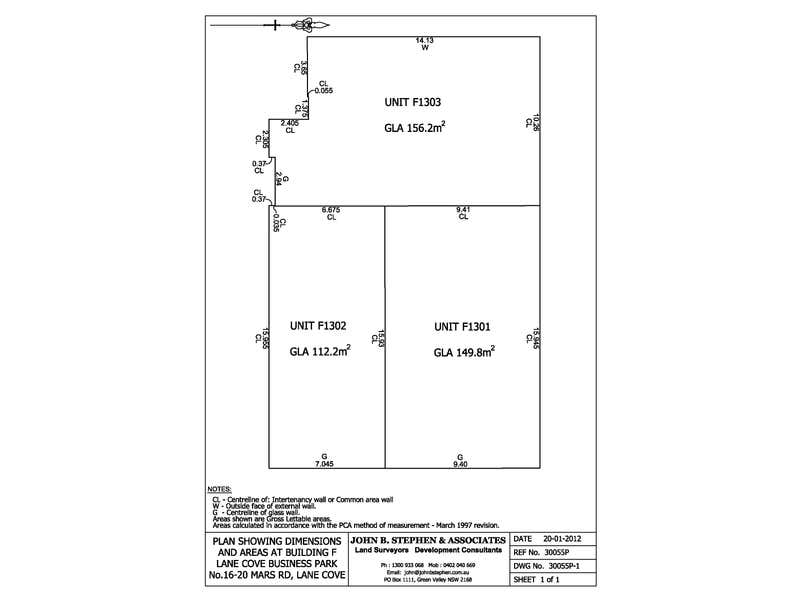 F1301, 16 Mars Road Lane Cove West NSW 2066 - Floor Plan 1