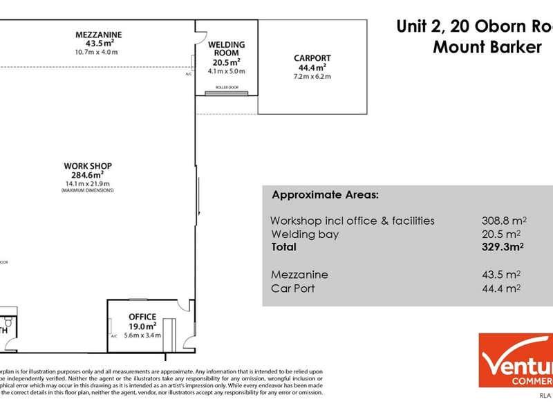 Unit 2, 20 Oborn Road Mount Barker SA 5251 - Floor Plan 1