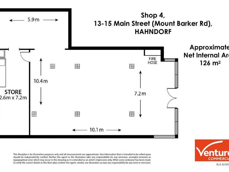 Shop 4, 13-15 Mount Barker Road Hahndorf SA 5245 - Floor Plan 1