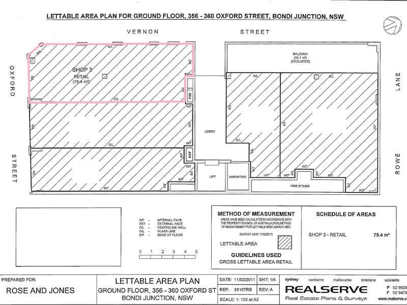 Shop 3, 360 Oxford Street Bondi Junction NSW 2022 - Floor Plan 1