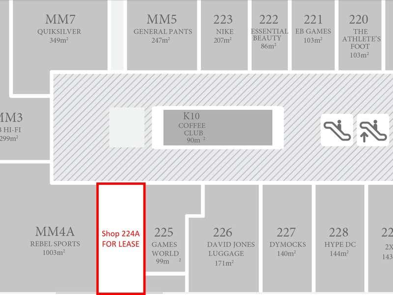 Claremont Quarter, Shop 224A, 23 St Quentin Avenue Claremont WA 6010 - Floor Plan 1