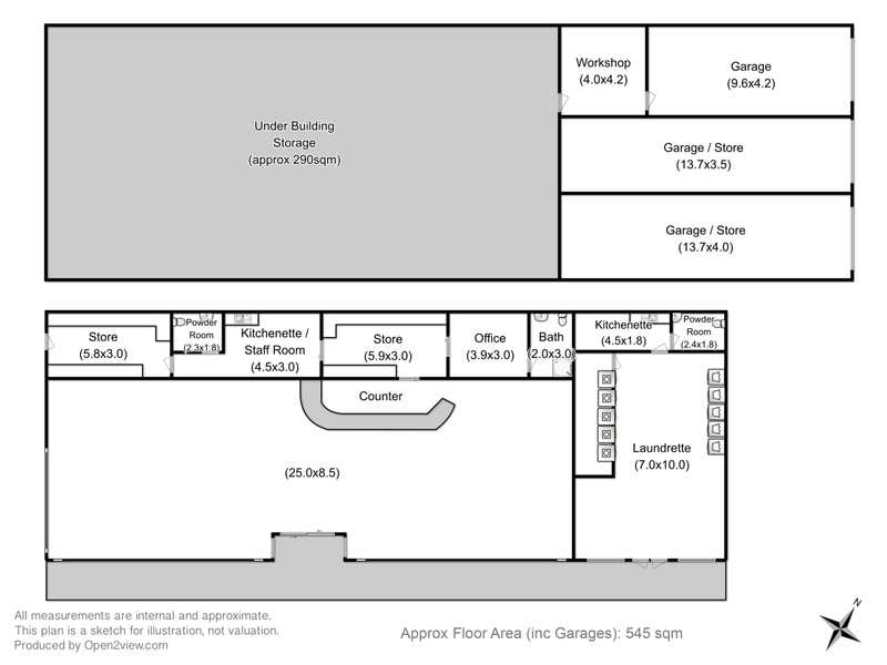 Shops 1, 2 & 3, 29  Main Road Claremont TAS 7011 - Floor Plan 1