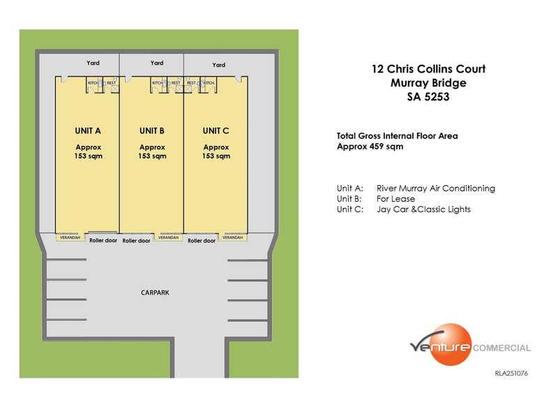 Unit A or B, Unit B, 12 Chris Collins Court Murray Bridge SA 5253 - Floor Plan 1