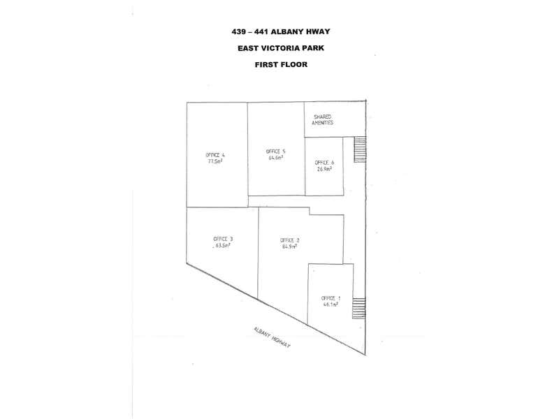 439-441 Albany Highway Victoria Park WA 6100 - Floor Plan 1