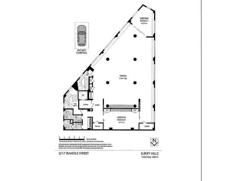 Level 2, 17 Randle Street Surry Hills NSW 2010 - Floor Plan 1