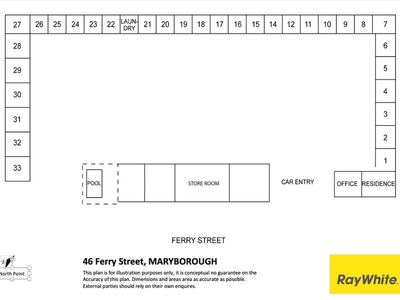 Arkana Motel, 46 Ferry Street Maryborough QLD 4650 - Floor Plan 1