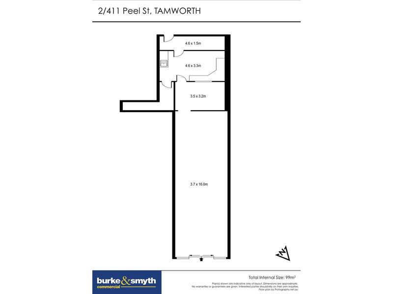 Shop 2, 411 Peel Street Tamworth NSW 2340 - Floor Plan 1