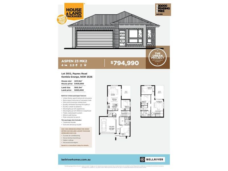 True Fixed Pricing Lot 3012 Paynes Road, Kembla Grange