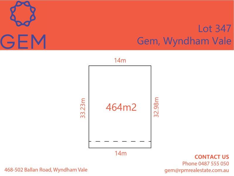Lot 347, Gem Street, Wyndham Vale