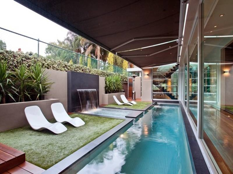 Outdoor living design with glass balustrade from a real ... on Aust Outdoor Living id=65272