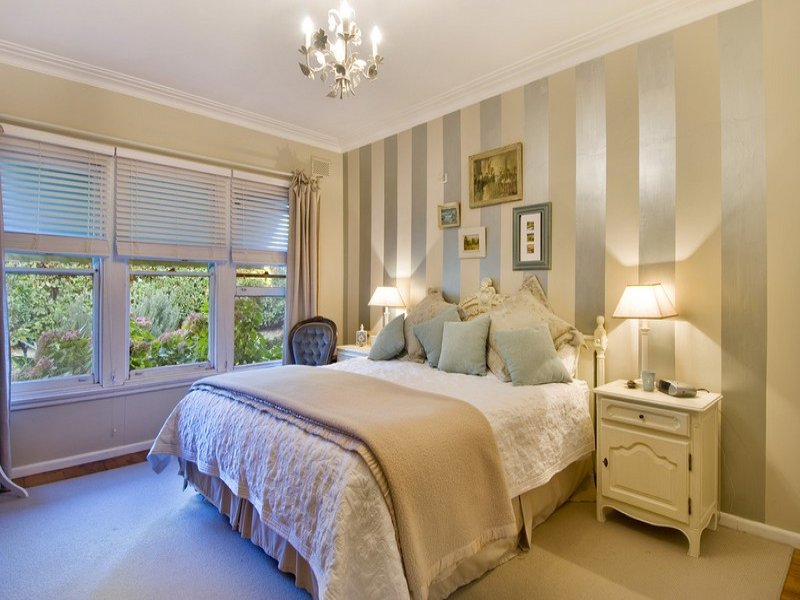pink beige carpet and headboard skirt green beige walls beige bedroom design idea from a real australian home 738