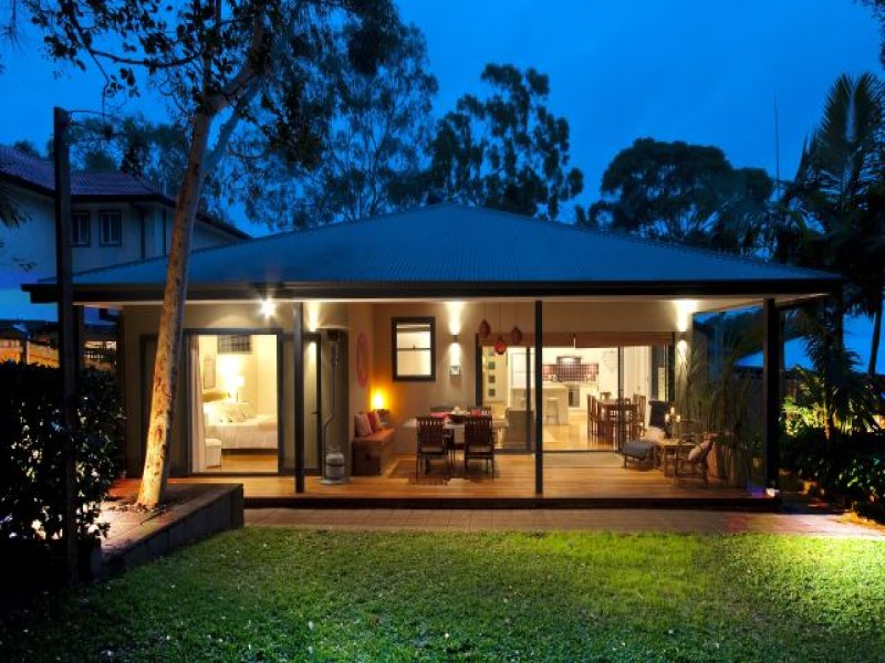 Indoor-outdoor outdoor living design with verandah ... on Garden Houses Outdoor Living id=80953